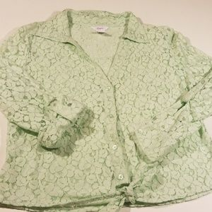 2 for $10 Women's Candies Lg Floral lace Blouse